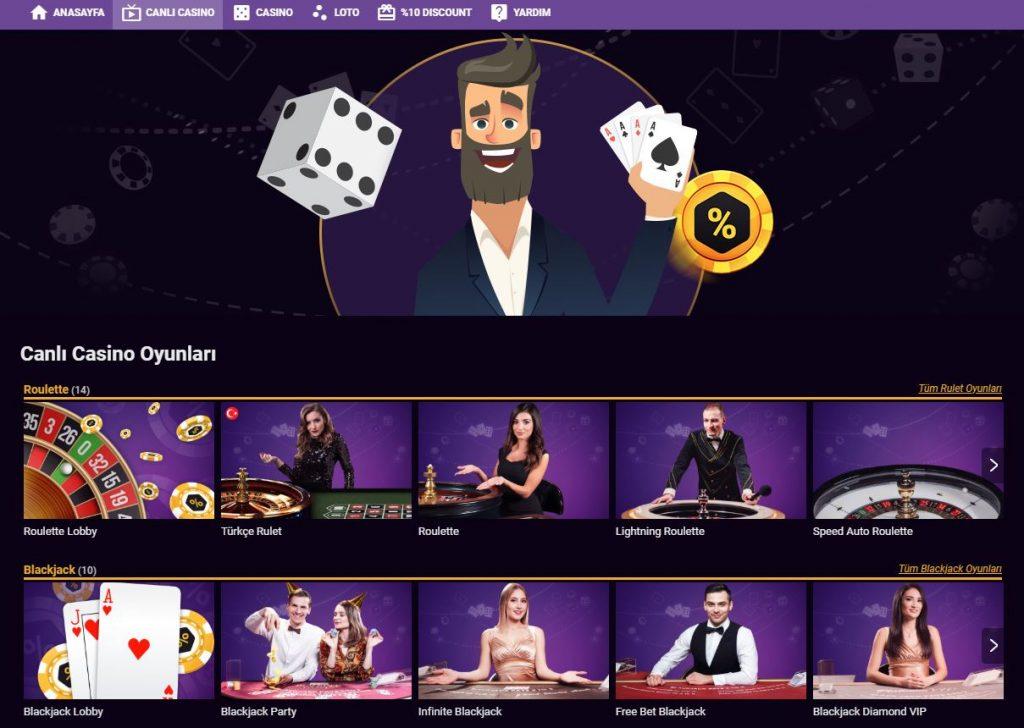 online casino oyunlari nelerdir